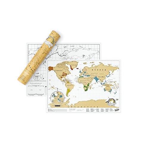 Scratch Map Travel Map, Travel Size Scratch off Map, Personalized Map of the World with Countries, Scratch off where you've been World Map Poster by Luckies of London Ltd