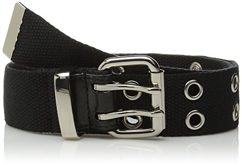 (Relic by Fossil Women's Double Grommet Belt, Black, X-Large)