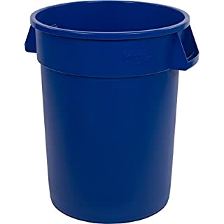 Carlisle 34103214 Bronco Round Waste Container Only, 32 Gallon, Blue (Pack of 4)