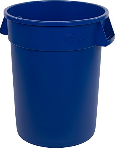 Carlisle 34103214 Bronco Round Waste Container Only, 32 Gallon, Blue by Carlisle