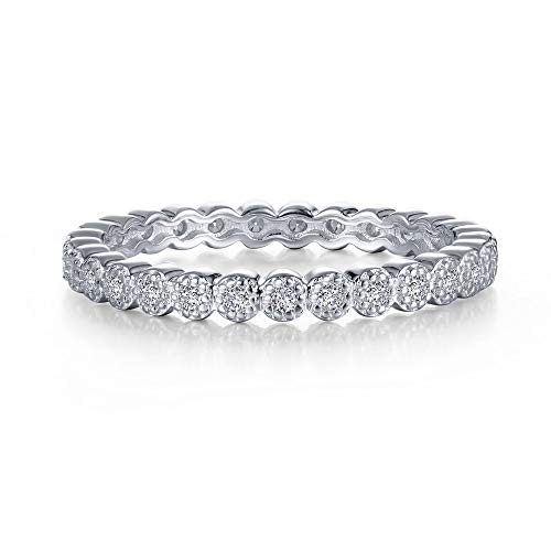 Lafonn Classic Sterling Silver Bonded with Platinum Simulated Diamond Stackable Ring (0.29 CTTW)