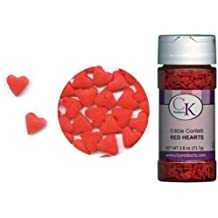Edible Confetti Red Hearts 2.6 Ounce Sprinkles