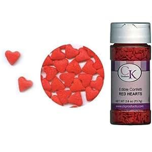 Confetti Red Hearts 2.6 oz. CONRH