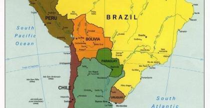 Mapa Politico America Sur.Mapa Politico Sur America Stitch Big Size Mouse Pad Mousepad
