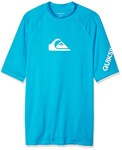 Quiksilver Mens All Time Ss Short Sleeve Surf Tee Rashguard