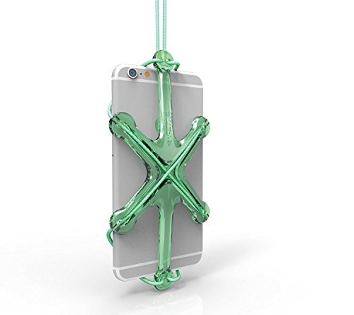 PME Universal Sport Phone Case Holder Necklace Lanyard Strap for iPhone SE 6 6S 5 5S Samsung Galaxy Note Google Nexus Moto (Light Green)