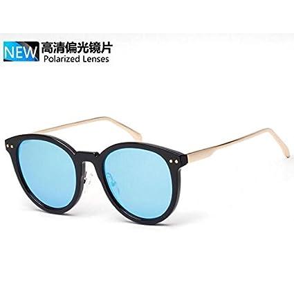 cloudings (TM) estilo coreano polarizadas gafas de sol mujer marca funda, redondo espejo