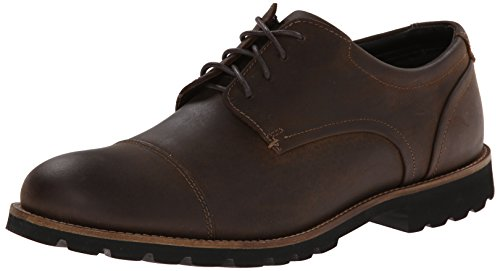 Rockport Men's Channer Oxford, Brown Crazy Horse, 14 M US by Rockport