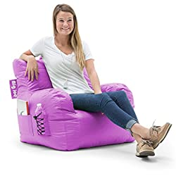 Big Joe 645624 Dorm Bean Bag Chair, Radiant Orchid