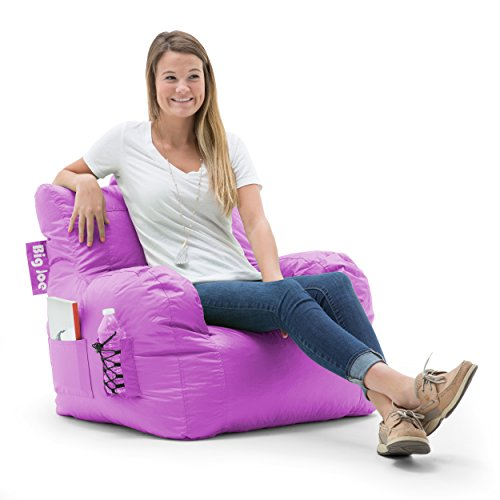 Big Joe Dorm Bean Bag Chair, Radiant Orchid