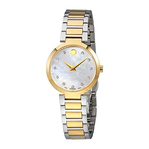 Movado Modern Classic Mother of Pearl Diamond Dial Ladies Watch 0607103 ()