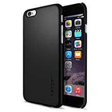 Spigen Thin Fit iPhone 6 Case / iPhone 6s Case with SF Coated Non Slip Matte Surface Thin Case for Apple iPhone 6S / iPhone 6 - Smooth Black