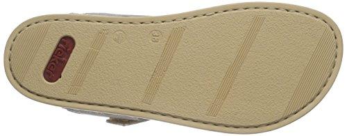 Rieker 64079 Women Flip Flop - Sandalias de dedo Mujer Plateado - Silber (argento / 90)