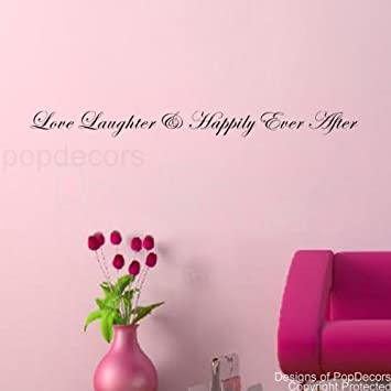 Amazoncom Popdecors Love Laughter Happily Ever After Words