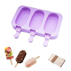 Popsicle Molds Stampo Per Gelato Popsicle Maker Popsicle Stampi Ghiacciolo Porpora Ellittico Con Popsicle Stick… 2 spesavip