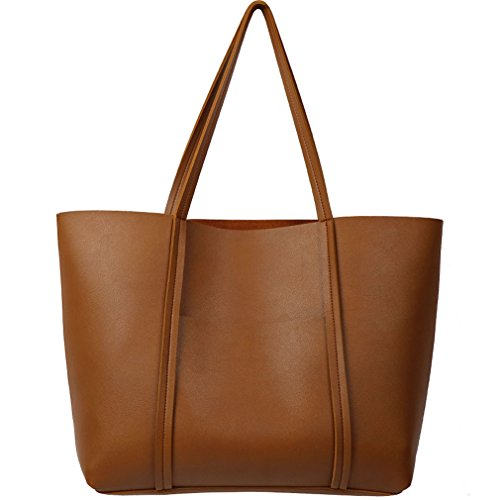 Women's Tote Bags Brown Top Handle Handbags Lady Fashion Satchel Shoulder Bags