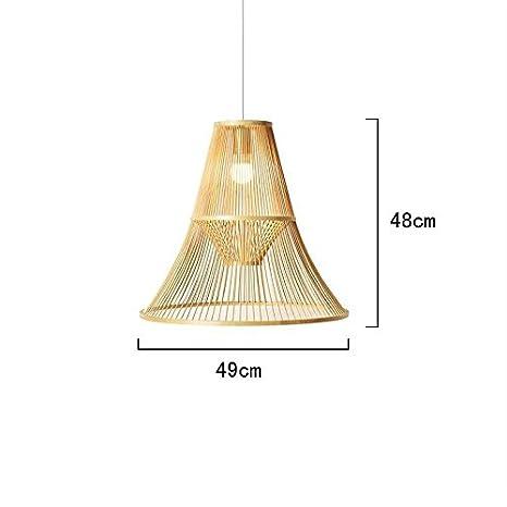 TL-LAMPS Luz De Sombra De Rattan Mimbre Bambú Montaje ...