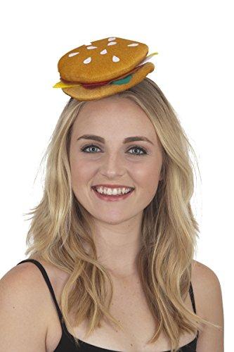 [26485 Cheeseburger Slider Headband] (Parrot Head Hat)