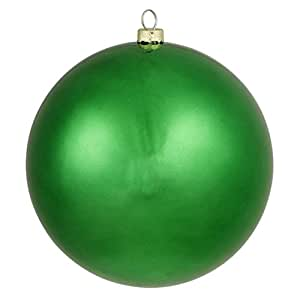 Vickerman Matte Xmas Green Commercial Shatterproof Christmas Ball Ornament 6 150mm