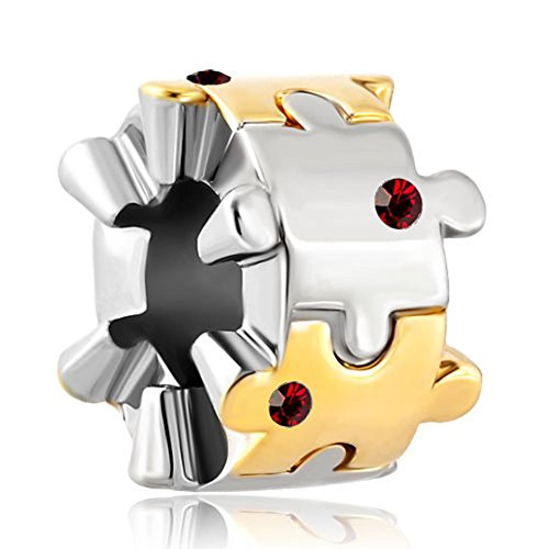 Autism Awareness Puzzle Piece Jigsaw Charm for Bracelets ()