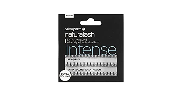 6863d10ea1a Amazon.com : Salon System Individual Lashes Black Medium - Extra Volume :  Beauty