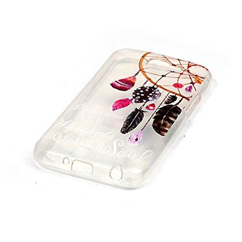 XiaoXiMi Funda de Silicona para LG K4 Carcasa Transparente Soft Silicone Cover Clear Case Funda Protectora Carcasa Blanda Caso Suave Flexible Caja Delgado Ligero Casco Anti Rasguños Anti Choque con el Atrapasueños del Joya