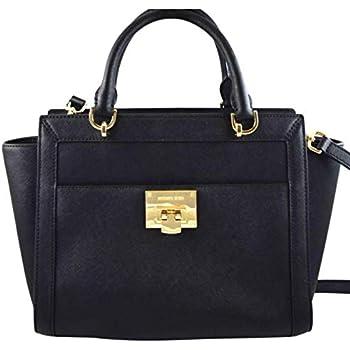 e931e929f3e64 MICHAEL Michael Kors TINA LARGE TOP ZIP Women's Shoulder Handbag SATCHEL  (Black)