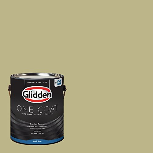 (Glidden Interior Paint + Primer: Sage/Cress Green, One Coat, Semi-Gloss, 1-Gallon)