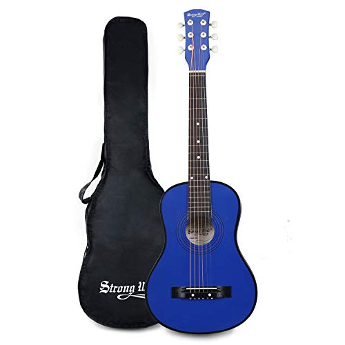 30 Inch Acoustic Guitar,1/2 Size Mini Guitars Instrument Beginner Kit for Kids/Beginners/Child with Gig Bag Blue
