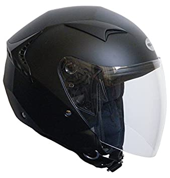 RALLOX Helmets - Casco de moto Jet Abierto Scooter Negro mate Rallox 240 (S M L XL