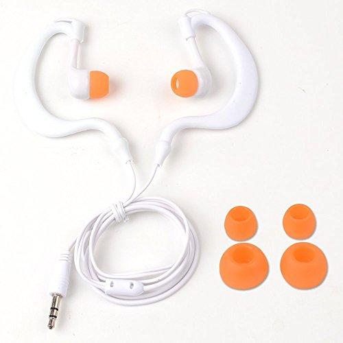 Y&M(TM)Waterproof Earphone,100% Waterproof Headphones Underwater In-Ear Earbud Stereo 3.5mm Earphone Headset for Phone Ipod Mp3 Mp4 Player (White)