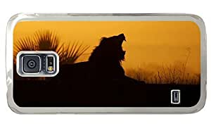 Hipster Samsung Galaxy S5 Case glitter covers Yawning Lion Sunrise PC Transparent for Samsung S5 Kimberly Kurzendoerfer