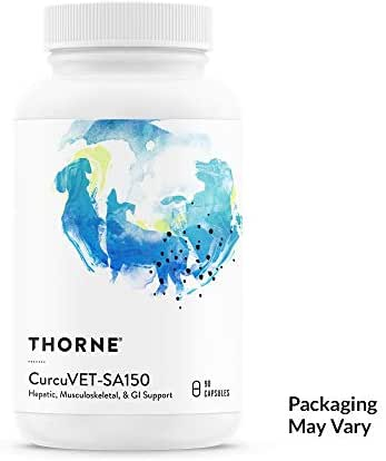 Thorne Research Veterinary - CurcuVET-SA150 Soy Free Formula (New Label) - Hepatic, Muscoloskeletal, GI Support - 90 Capsules
