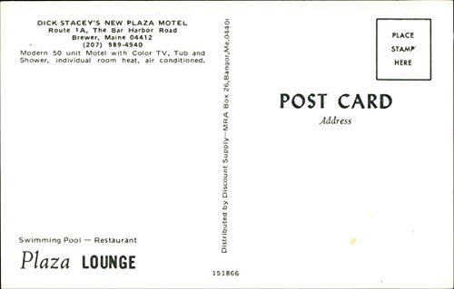 Amazon.com: Dick Stacey's New Plaza Motel Brewer, Maine Original Vintage Postcard: Entertainment Collectibles