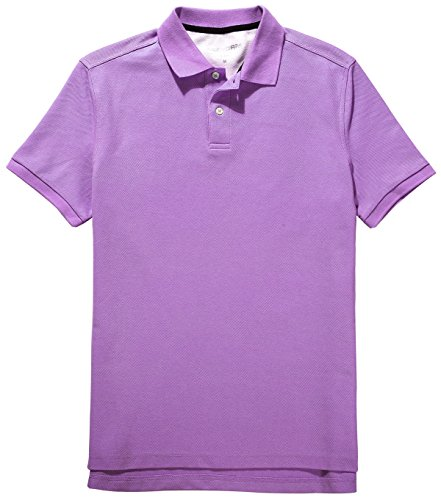 Fastorm Mens Solid Polo Shirts Short Sleeve Collared Golf Pique Polo Wicking Shirt Purple X-Large (Polo Pique Solid Mens)