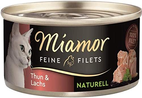 Miamor Dose Feine Filets Naturelle Thunfisch & Lachs 80 g (Menge: 24 je Bestelleinheit)