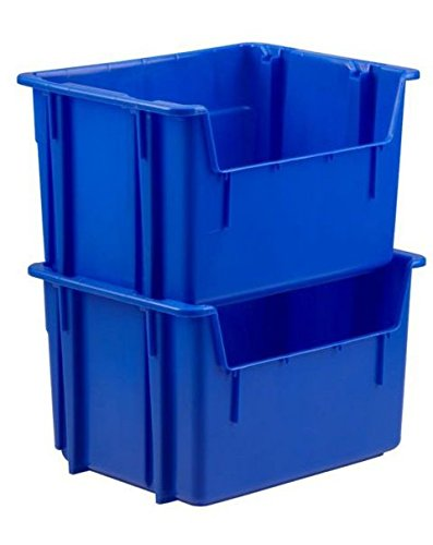 Orbis Blue Stacking Hopper Bin, 47-L