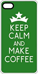 Keep Calm & Make Coffee with Crown Clear Rubber Case for Apple iPhone 4 or iPhone 4s