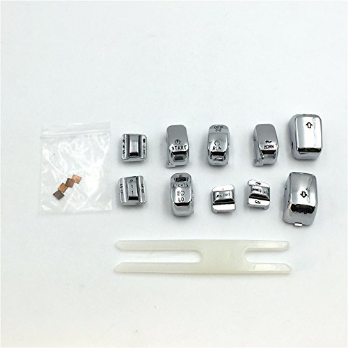 HK Moto Motorcycle Chrome Hand Controls Switch Housing Buttons Caps Cover For Harley Touring '96-'13 FLHTCU, FLHTK, FLTR and FLTRU and '09-'13 FLHTCUTG models FLTR and FLTRU and ' 09-' 13 FLHTCUTG models