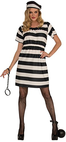 Rubie's Haunted House Collection Prisoner Lady Costume, Black/White, One Size]()