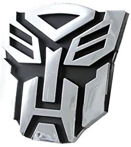 "Autobot Chrome Finish PVC Car Auto Emblem - 5"" Tall"