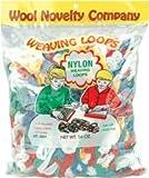 Bulk Buy: Wool Novelty Nylon Weaving Loops 16 Ounces Multi Colors 488 (2-Pack)