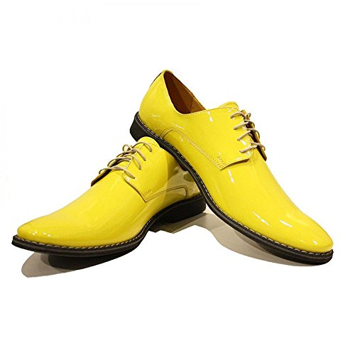 Modello Pio - Handmade Colorful italiennes Chaussures en cuir Oxfords Casual Souliers de Formal Prime Unique Vintage Gift Lace Up Robe Hommes