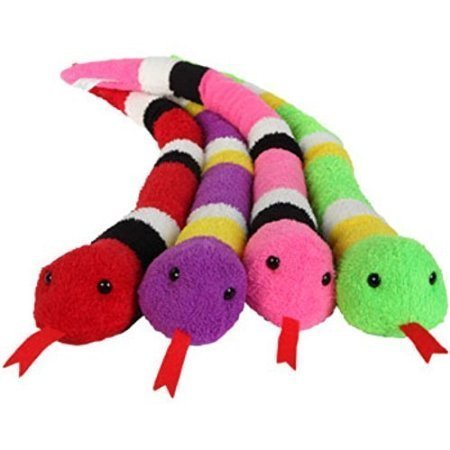 Colorful Plush Snakes, 23''