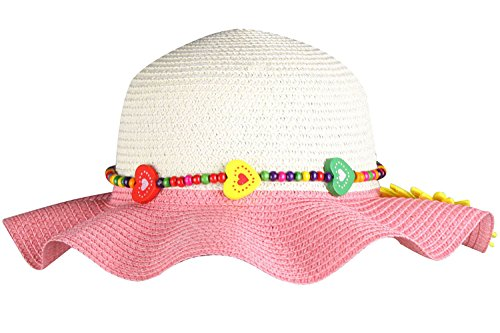 [Girls Sun Hat Garden Party Hats Wide Brim Hat Summer Hats for Baby Girls Peach] (Asian Guy Halloween Costume)