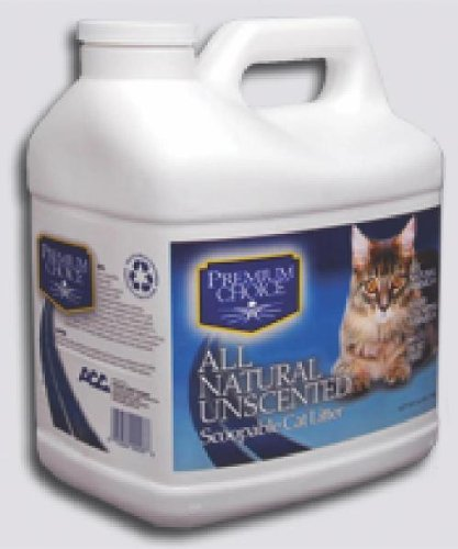 Premium Choice All Natural Unscented Scoopable Cat Litter, 16 Pound Jug, My Pet Supplies