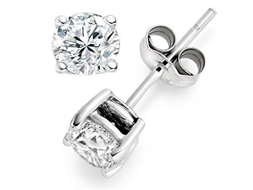 Man Made Diamond Stud Earrings Uk