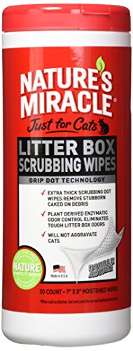 - Nature's Miracle Just for Cats Litter Box Scrubbing Wipes, 30 Count (NM-5574)