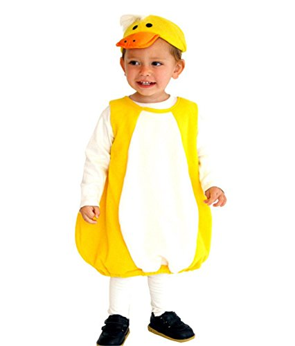 Duck Fancy Dress Costumes (Kalanman Kids Girls Deluxe Halloween Dress Up Theme Party Cosplay Costume Party Fancy Dress (S(Fit for 3-4 Age), Duck 0002))