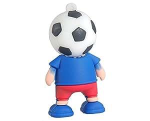 Football Player Design 16gb Usb2.0 Flash Drive (Blue)